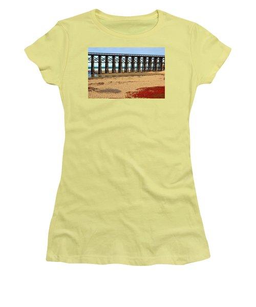 Pudding Creek Bridge Women's T-Shirt (Athletic Fit)