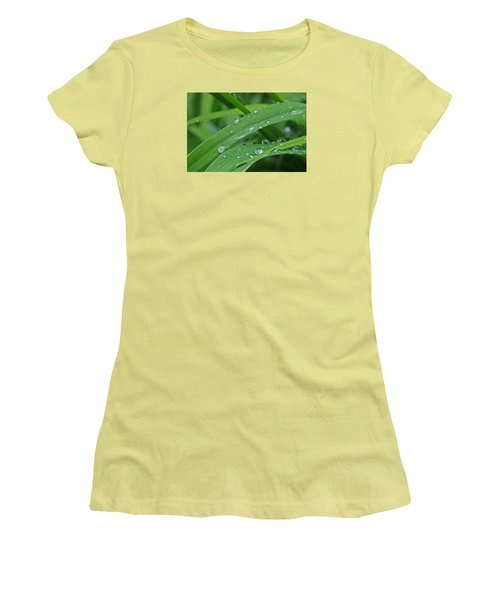 Women's T-Shirt (Junior Cut) featuring the photograph Pure Green by Julie Andel