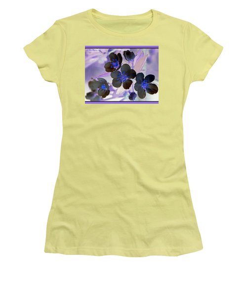 Purple Blue And Gray Women's T-Shirt (Junior Cut) by Chris Anderson