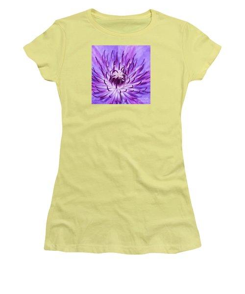 Purple Clematis Women's T-Shirt (Athletic Fit)