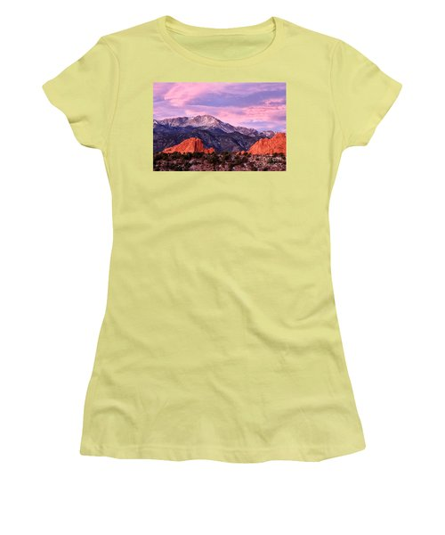 Purple Skies Over Pikes Peak Women's T-Shirt (Athletic Fit)