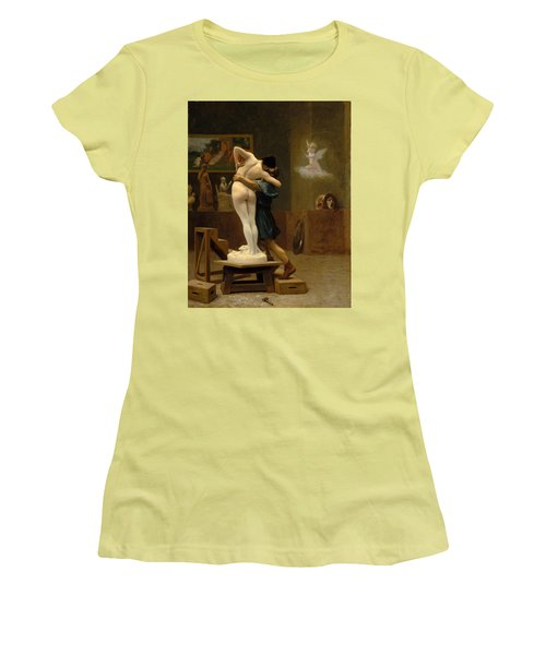 Pygmalion And Galatea Women's T-Shirt (Junior Cut) by Jean-Leon Gerome