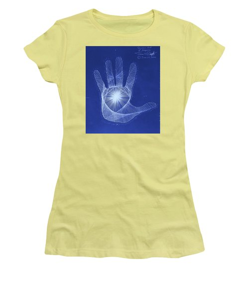 Quantum Hand Through My Eyes Women's T-Shirt (Athletic Fit)