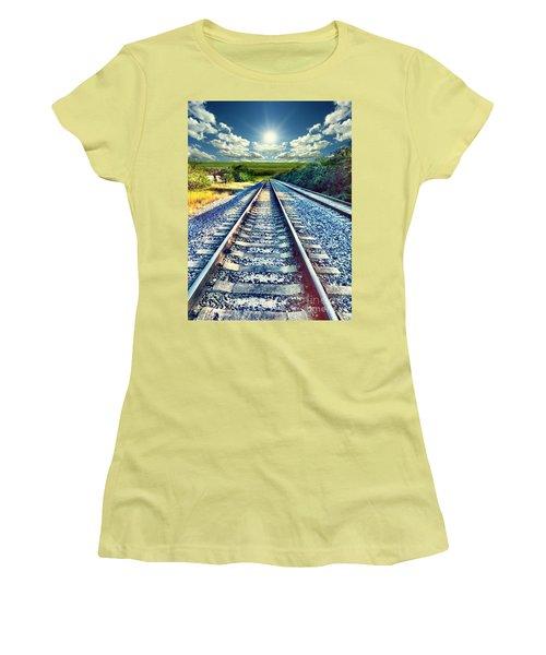 Railroad To Heaven Women's T-Shirt (Junior Cut) by Carlos Avila