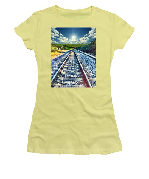 Railroad To Heaven Women's T-Shirt (Athletic Fit)