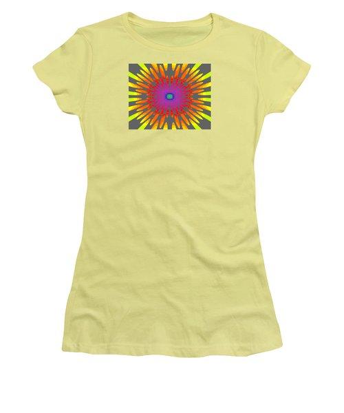 Rainbow Daisy Mandala  C2014  Women's T-Shirt (Athletic Fit)