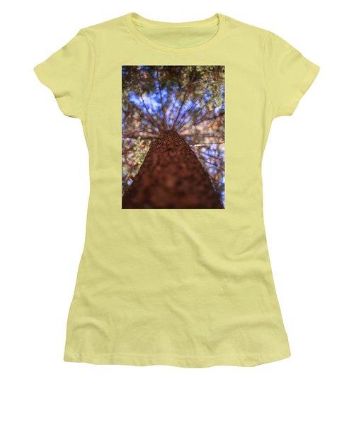 Rainbow Pine Women's T-Shirt (Junior Cut) by Aaron Aldrich