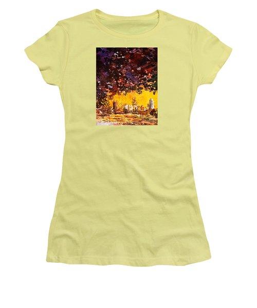 Raleigh Downtown Women's T-Shirt (Junior Cut) by Ryan Fox