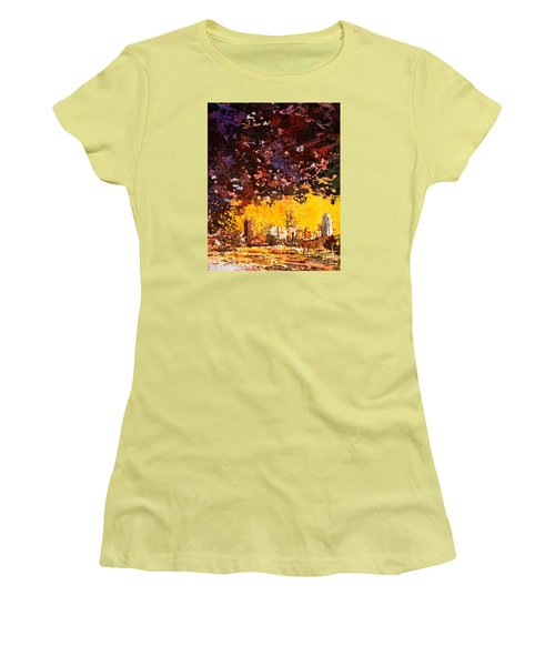 Raleigh Downtown Women's T-Shirt (Athletic Fit)