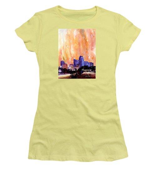 Raligh Skyline Sunset Women's T-Shirt (Junior Cut) by Ryan Fox
