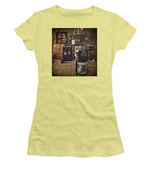 Randsburg Barber Shop Interior Women's T-Shirt (Athletic Fit)