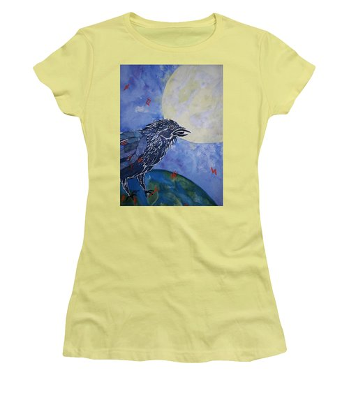 Raven Speak Women's T-Shirt (Junior Cut) by Ellen Levinson