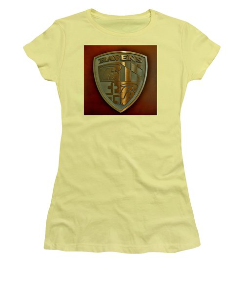Ravens Coat Of Arms Women's T-Shirt (Junior Cut) by Robert Geary
