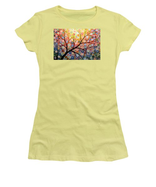 Reaching For The Light Women's T-Shirt (Junior Cut) by Amy Giacomelli