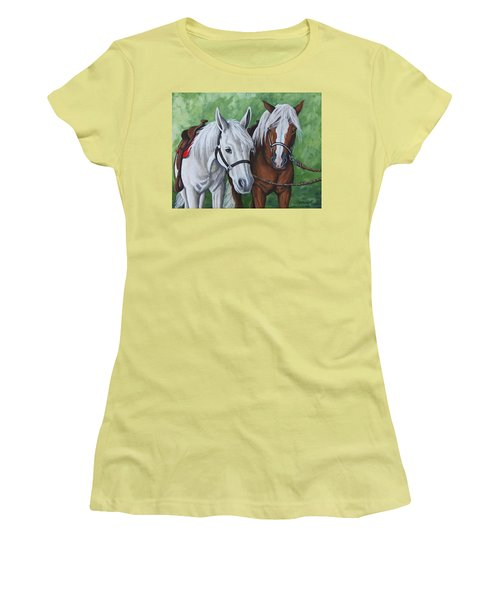 Ready To Ride Women's T-Shirt (Junior Cut) by Penny Birch-Williams