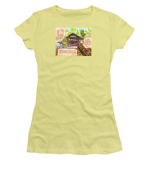 Rebuild The Bridge Women's T-Shirt (Junior Cut) by LeAnne Sowa