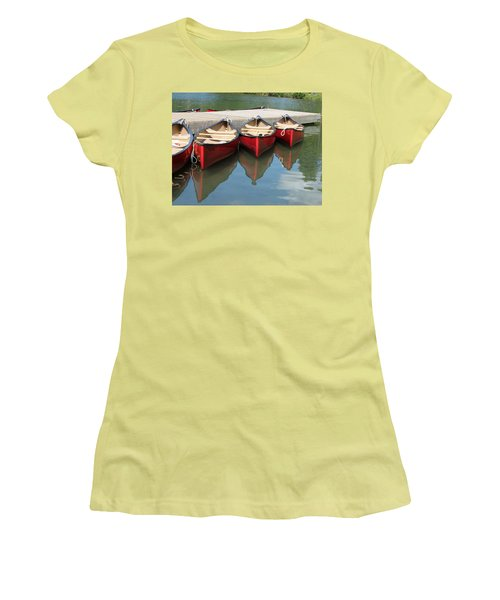 Red Canoes Women's T-Shirt (Athletic Fit)