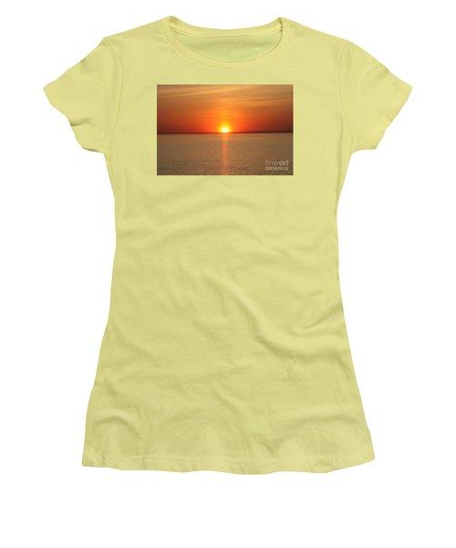 Red-hot Sunset Women's T-Shirt (Junior Cut) by John Telfer