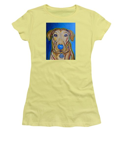 Women's T-Shirt (Junior Cut) featuring the painting Rescued by Victoria Lakes