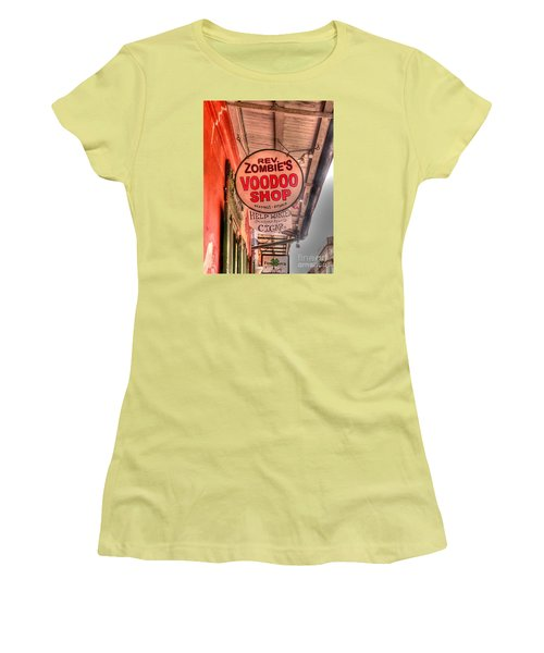 Rev. Zombie's Women's T-Shirt (Junior Cut) by David Bearden