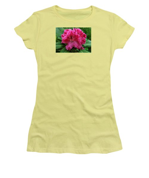 Women's T-Shirt (Junior Cut) featuring the photograph Rhododendron ' Bessie Howells ' by William Tanneberger