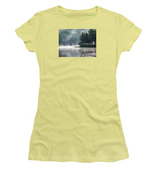 Ridge Road Morning Mist Women's T-Shirt (Junior Cut) by Joy Nichols