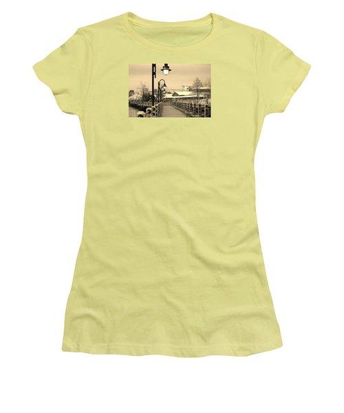 Riverfront Women's T-Shirt (Junior Cut) by Cynthia Guinn