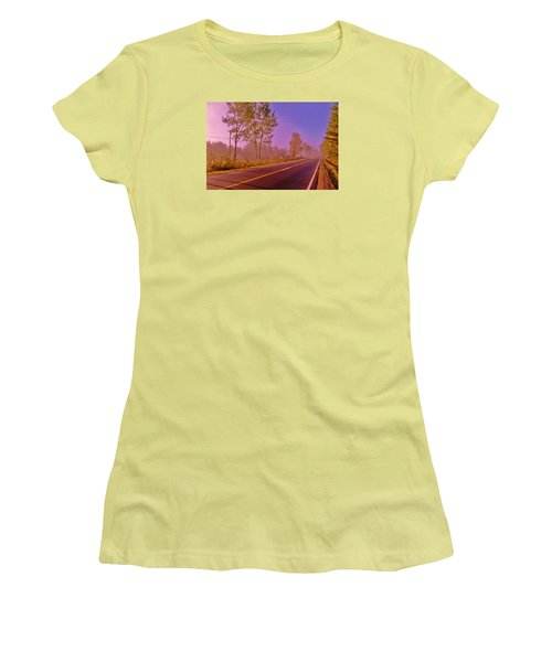 Women's T-Shirt (Junior Cut) featuring the photograph Road To... by Daniel Thompson