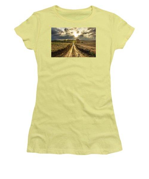 Road To Nowhere Women's T-Shirt (Junior Cut) by Aaron J Groen