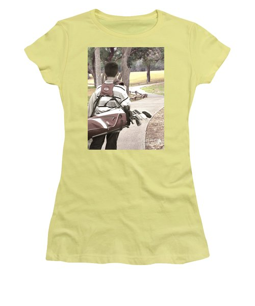 Women's T-Shirt (Junior Cut) featuring the photograph Road To Success - Inspirational Art by Ella Kaye Dickey