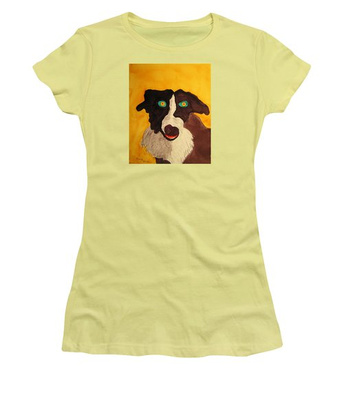 Women's T-Shirt (Junior Cut) featuring the painting The Storyteller by Rand Swift