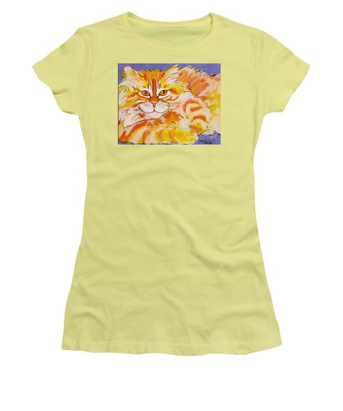 Women's T-Shirt (Junior Cut) featuring the painting Rocket by Alison Caltrider