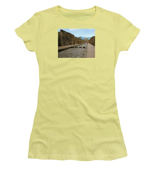 Roman Street In Pompeii Women's T-Shirt (Athletic Fit)