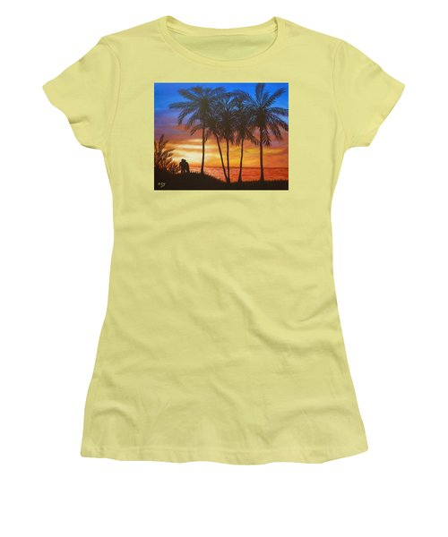 Romance In Paradise Women's T-Shirt (Athletic Fit)
