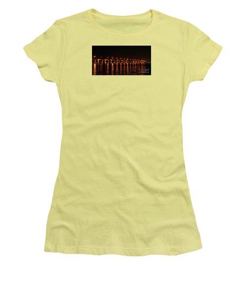 Women's T-Shirt (Junior Cut) featuring the photograph Roosevelt Bridge Panorama by Olga Hamilton