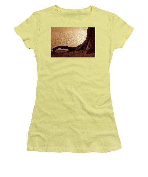 Women's T-Shirt (Junior Cut) featuring the photograph Roots by Mim White