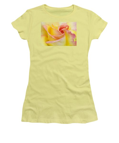 Rose Bud Opening Women's T-Shirt (Athletic Fit)