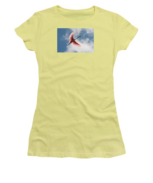 Roseate Soaring Women's T-Shirt (Athletic Fit)