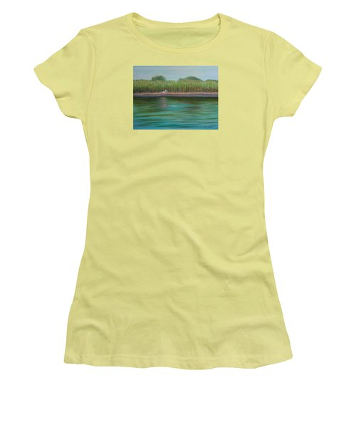 Roseate Spoonbill On East Creek Women's T-Shirt (Athletic Fit)