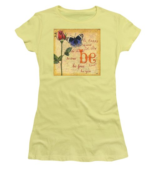 Roses And Butterflies 1 Women's T-Shirt (Athletic Fit)
