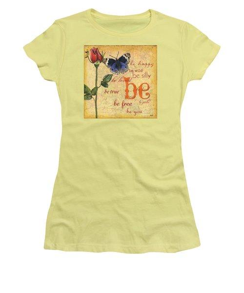 Roses And Butterflies 1 Women's T-Shirt (Junior Cut) by Debbie DeWitt