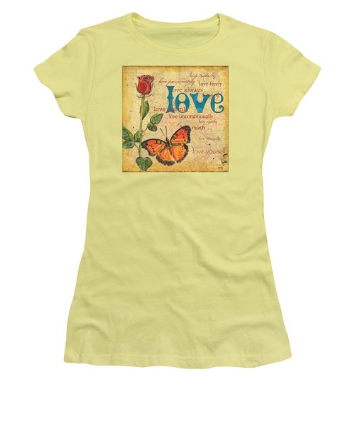 Roses And Butterflies 2 Women's T-Shirt (Athletic Fit)