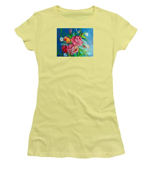 Roses Roses Jenny Lee Discount Women's T-Shirt (Athletic Fit)