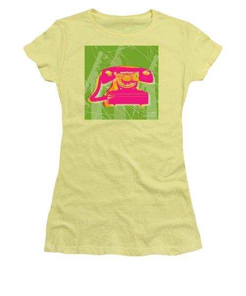 Rotary Phone Women's T-Shirt (Junior Cut) by Jean luc Comperat