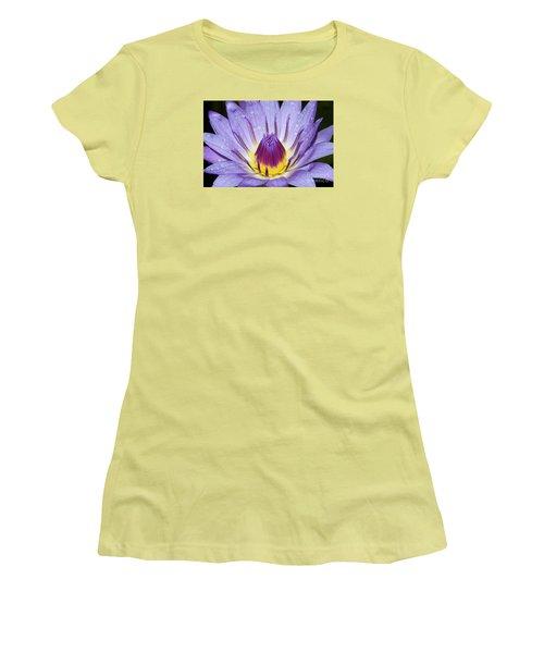 Royal Purple Water Lily #3 Women's T-Shirt (Junior Cut)