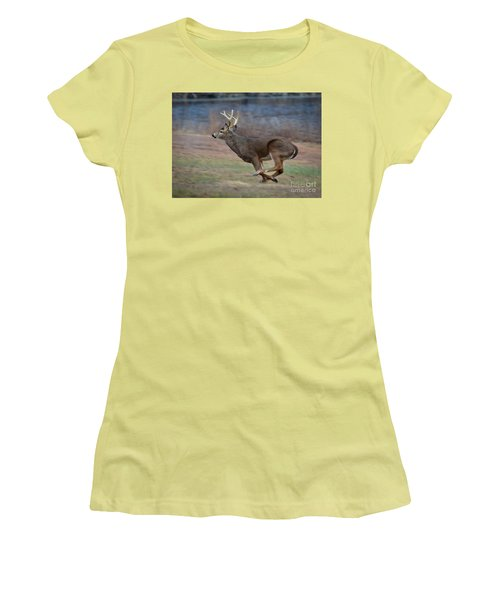 Running Buck Women's T-Shirt (Athletic Fit)
