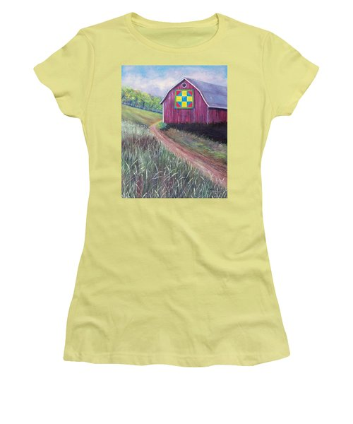 Women's T-Shirt (Junior Cut) featuring the painting Rural America's Gift by Susan DeLain