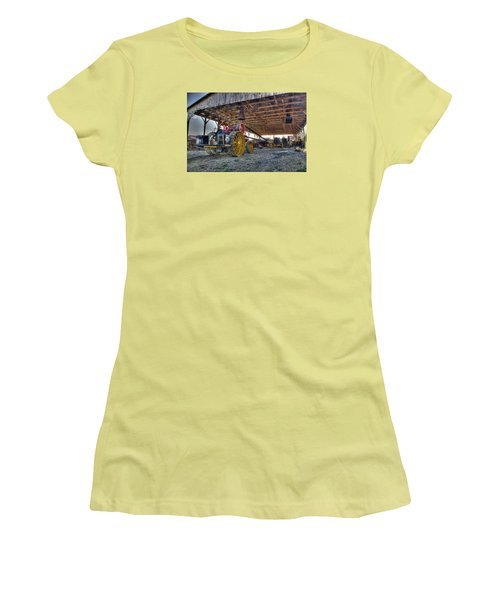 Russell At The Saw Mill Women's T-Shirt (Junior Cut) by Shelly Gunderson