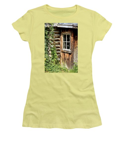 Rustic Cabin Window Women's T-Shirt (Athletic Fit)