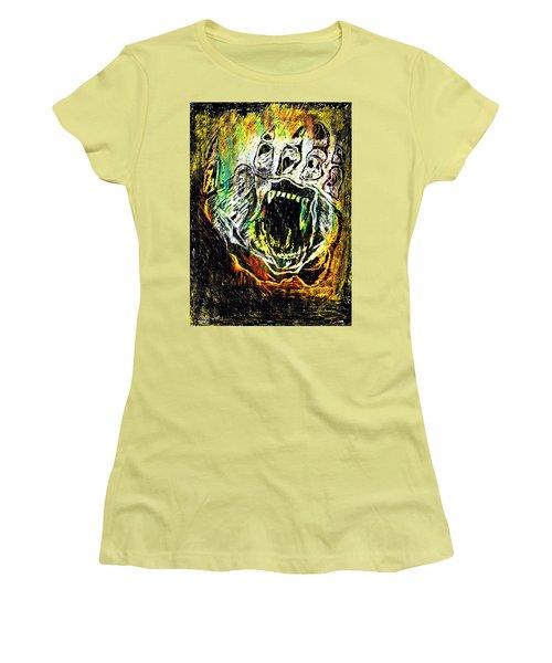 Sacred Paw Impression Women's T-Shirt (Junior Cut) by Ayasha Loya